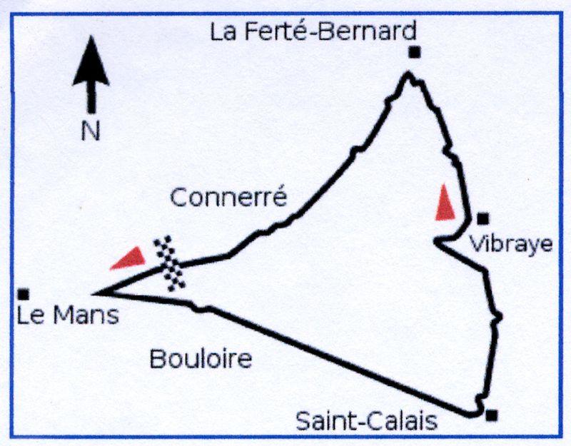 Vn Francuske 1906 Godine Mapa Staze