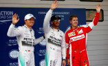 Nico Rosberg, Lewis Hamilton i Sebastian Vettel