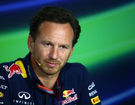 BUDAPEST, HUNGARY - JULY 24:  Infiniti Red Bull Racing Team Principal Christian Horner looks on during a press conference after practice for the Formula One Grand Prix of Hungary at Hungaroring on July 24, 2015 in Budapest, Hungary.  (Photo by Mark Thompson/Getty Images)