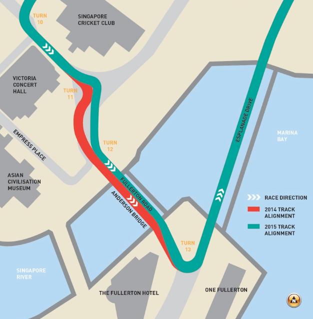 Manje promjene na stazi u Singapuru