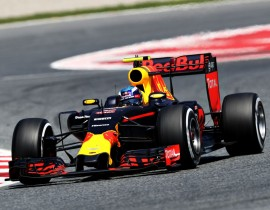 MONTMELO, SPAIN - MAY 15: Max Verstappen of the Netherlands driving the (33) Red Bull Racing Red Bull-TAG Heuer RB12 TAG Heuer on track during the Spanish Formula One Grand Prix at Circuit de Catalunya on May 15, 2016 in Montmelo, Spain.  (Photo by Mark Thompson/Getty Images)