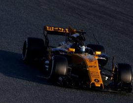 Nico Hulkenberg (GER) Renault Sport F1 Team RS17. Formula One Testing, Day 1, Monday 27th February 2017. Barcelona, Spain.