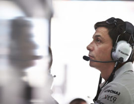 SAKHIR, BAHRAIN - APRIL 20:  Toto Wolff the Executive Director of Mercedes GP is seen during qualifying for the Bahrain Formula One Grand Prix at the Bahrain International Circuit on April 20, 2013 in Sakhir, Bahrain.  (Photo by Steve Etherington/Getty Images)